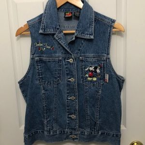 Mickey Unlimited Jackets & Coats - Mickey Mouse denim vest